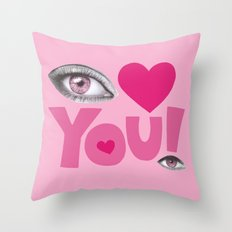 Eye Love You Throw Pillow
