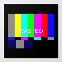 wasted rita Canvas Prints featuring Wasted by Λdd1x7