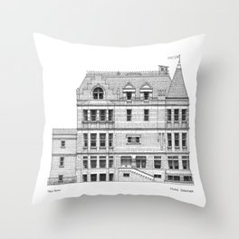 New York Royal Residence Throw Pillow