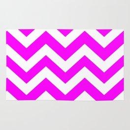 Magenta (Crayola) - pink color - Zigzag Chevron Pattern Rug