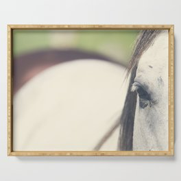 Grey Horse Serving Tray