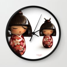 Kokeshi 02 Wall Clock