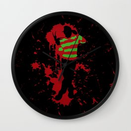 Fred In The Red Wall Clock
