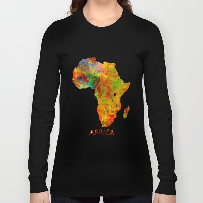 Africa map colored Long Sleeve T-shirt