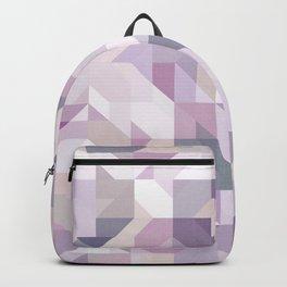 Pastel Purple Geometric on Linen Backpack