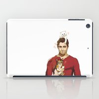 derek hale iPad Cases featuring derek with kittens by steammmpunk