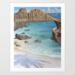 Seychelles Art Print