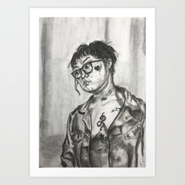 the valentine Art Print