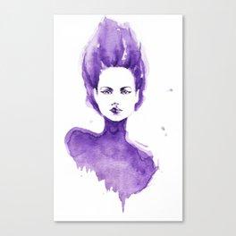 Purple Water Faery Canvas Print