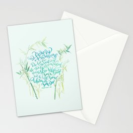 Be Strong and Courageous - Joshua 1:9 - bamboo Stationery Cards