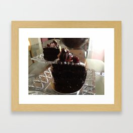 Chocolate cake Framed Art Print