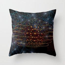 Network Art Design Throw Pillow
