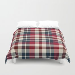 Holiday Plaid 25 Duvet Cover
