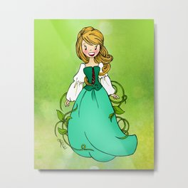 Woodland Princess Metal Print