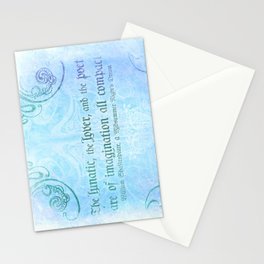 The lunatic, the lover - Midsummer Night Shakespeare Love Quote Stationery Cards