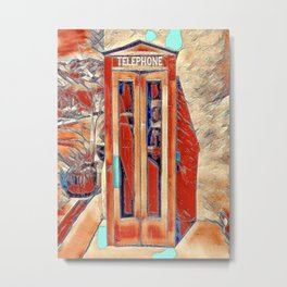Telephone Booth - New Mexico Metal Print