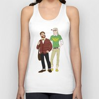 legolas Tank Tops featuring Hipster Legolas and Gimli by Nautilus Gifticus