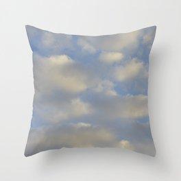 Cloudy Days Throw Pillow