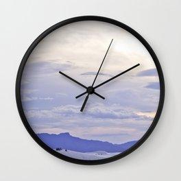 Purple Mountain Majesty Wall Clock