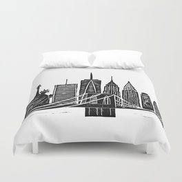 Linocut New York Duvet Cover