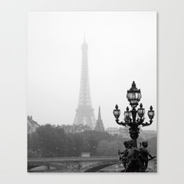Veiled Eiffel Tower Canvas Print