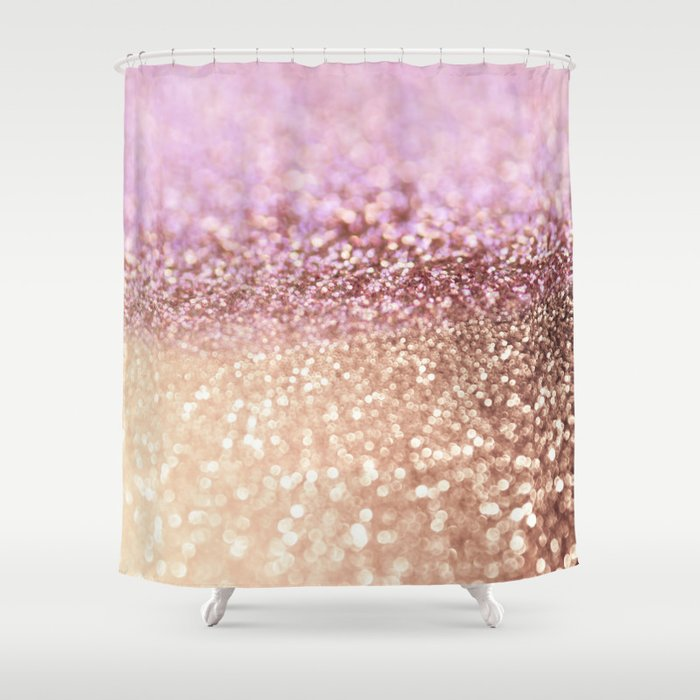 Gold Glitter Shower Curtain Curtain Ideas