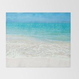 Beach, Tropical Paradise Throw Blanket