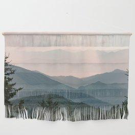 Smoky Mountain Pastel Sunset Wall Hanging