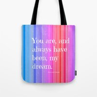 notebook Tote Bags featuring Nicholas Sparks Notebook quote by Laura Santeler