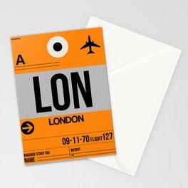 LON London Luggage Tag 1 Stationery Cards