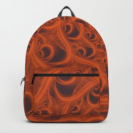Fractal Web in Halloween Orange Backpack