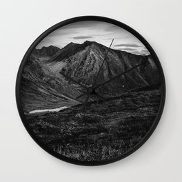 Hatcher Pass Without Color Wall Clock