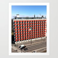 copenhagen Art Prints featuring COPENHAGEN by T◎BBER