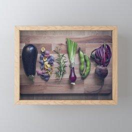 Nightshade pasta ingredients Framed Mini Art Print