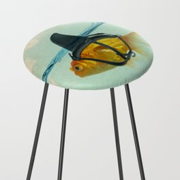Brilliant DISGUISE - Goldfish with a Shark Fin Counter Stool