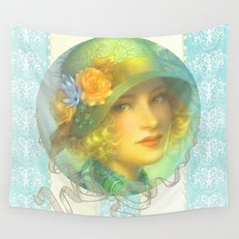 Vintage Girl Wall Tapestry