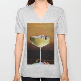 Champagne Sunset Unisex V-Neck