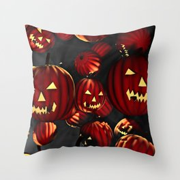 Scary Halloween Throw Pillow