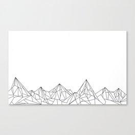 Night Court Mountain Design Canvas Print