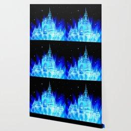 Blue Ice Frozen Enchanted Castle Wallpaper