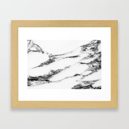 Marble (White) Framed Art Print