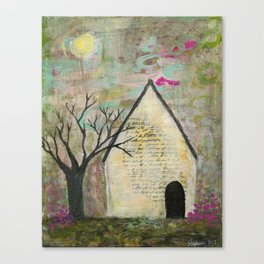 Little house of words Canvas Print