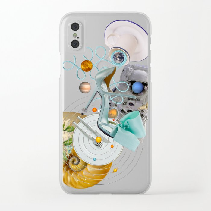 Space Fashion Trip by Lenka Laskoradova Clear iPhone Case