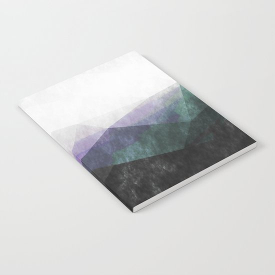 On the mountains- green watercolor - triangle pattern Notebook