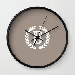 Beige Monogram: Letter B Wall Clock