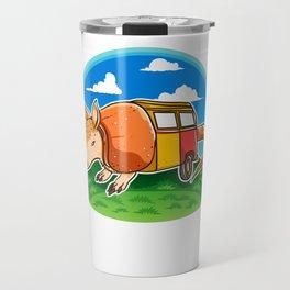 Funny Armadillo Holiday Camper Trailer Camping product Travel Mug