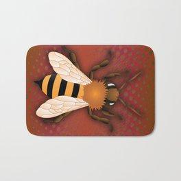 Angry Bee  Bath Mat