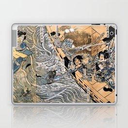 Kuniyoshi Utagawa, The ghost of Taira Tomomori, Daimotsu bay Laptop & iPad Skin