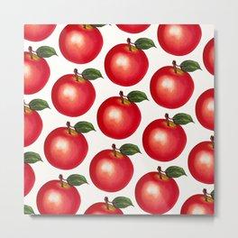 Apple Pattern Metal Print