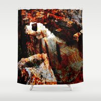 contemporary Shower Curtains featuring abstract contemporary by  Agostino Lo Coco